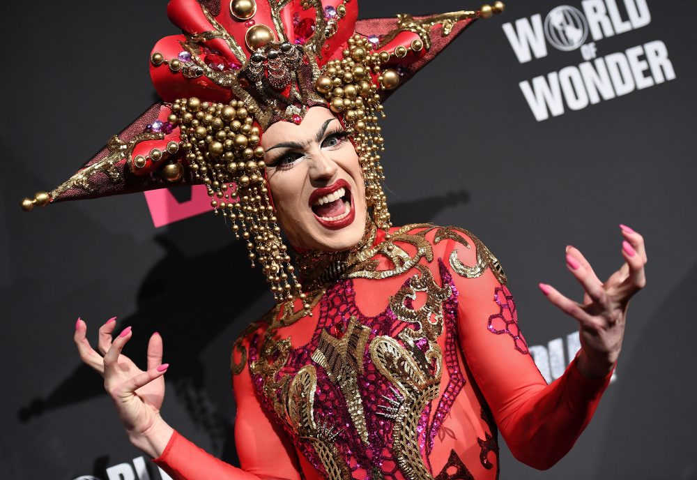 """Contestant Sasha Velour attends the season premiere of """"RuPaul's Drag Race"""" on March 7, 2017, in New York. (Angela Weiss/AFP/Getty Images)"""