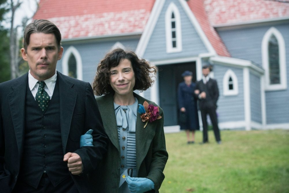 Sally Hawkins as Maud Lewis and Ethan Hawke as Everett Lewis. (Duncan Deyoung, Courtesy of Sony Pictures Classics)