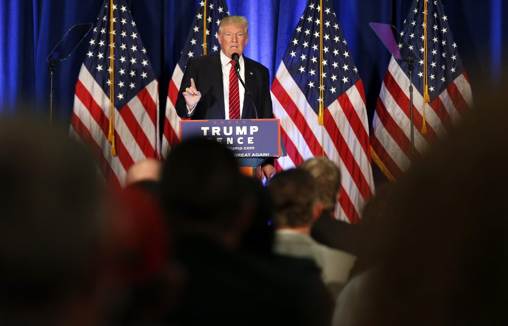 """President Trump will be in Youngstown, Ohio, Tuesday night for what's being called a """"Rally in the Valley."""" Pictured: Then-candidate Trump speaks in Youngstown in August 2016. (Gerald Herbert/AP)"""