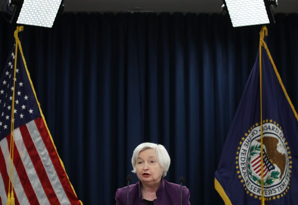Federal Reserve Board Chair Janet Yellen speaks during a news conference on June 14, 2017, in Washington, D.C. (Mark Wilson/Getty Images)