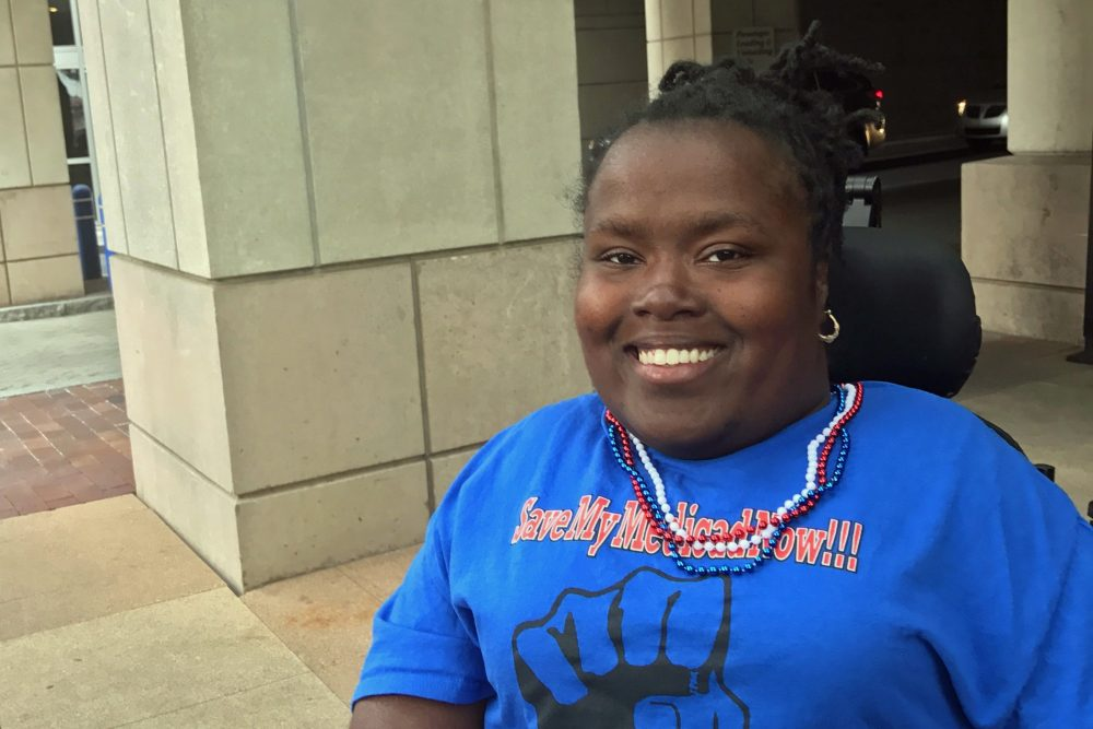 Latoya Maddox, a 33-year-old Medicaid recipient who's also a member of ADAPT, one of the groups organizing protests of the Republican health care plan. (Courtesy)