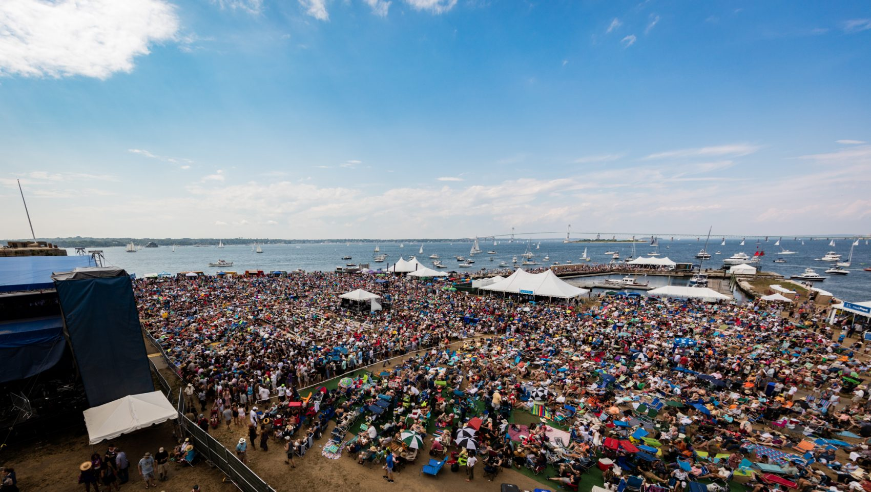 A view of the crowd at the Newport Jazz Festival in 2016. (Courtesy Douglas Mason)