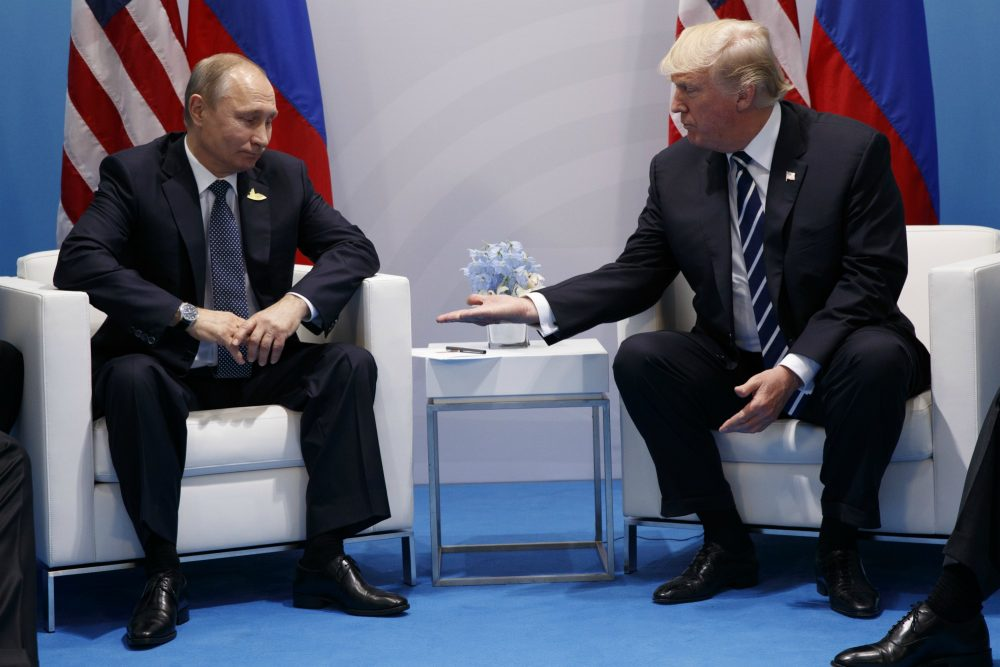 President Donald Trump meets with Russian President Vladimir Putin at the G20 Summit at the G20 Summit, Friday, July 7, 2017, in Hamburg. (Evan Vucci/ AP)