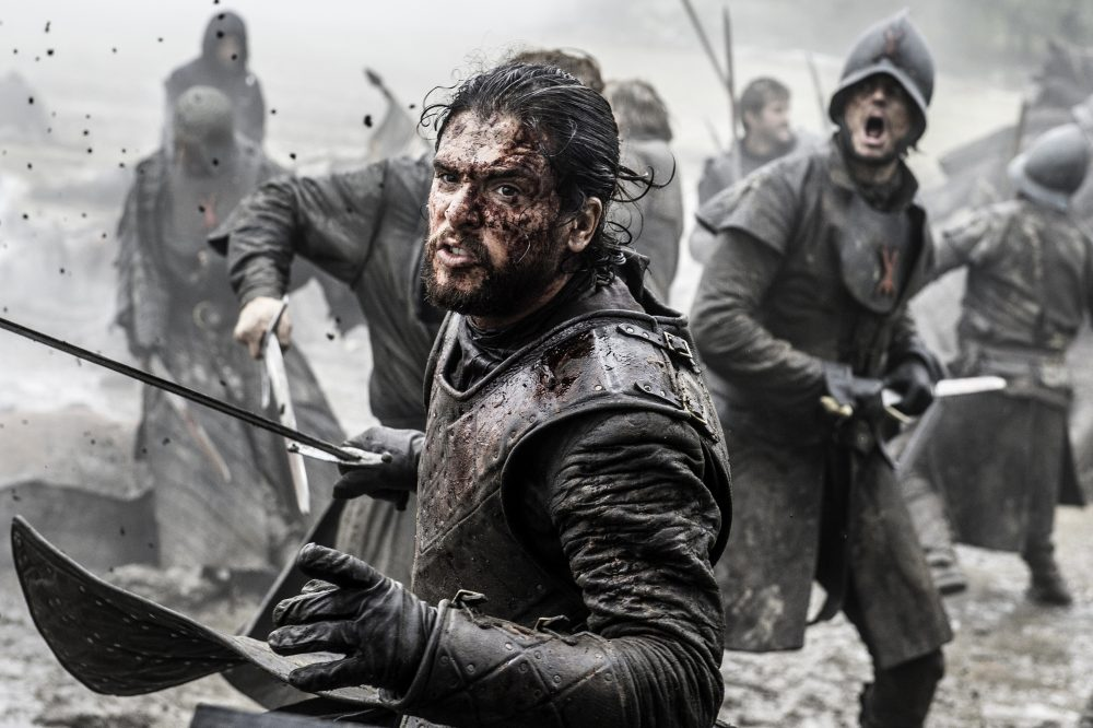 "This file image released by HBO shows Kit Harington in a scene from ""Game of Thrones."" (Helen Sloan/AP)"