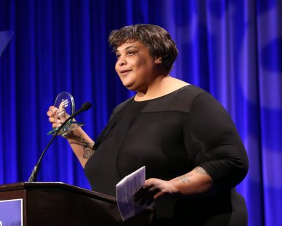Author Roxane Gay is pictured on Nov. 16, 2015, in Beverly Hills, Calif. (Matt Sayles/AP)