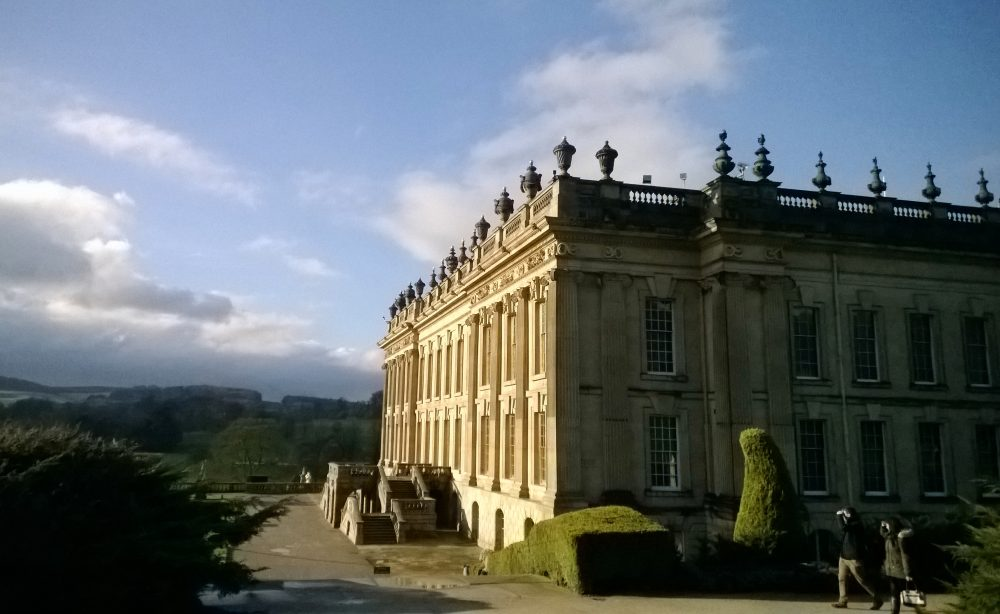 Chatsworth House in Derbyshire, England. Local lore says that Jane Austen based Mr. Darcy's home in Pride and Prejudice on Chatsworth, one of England's most lavish stately homes. (Alina Hartounian/AP)