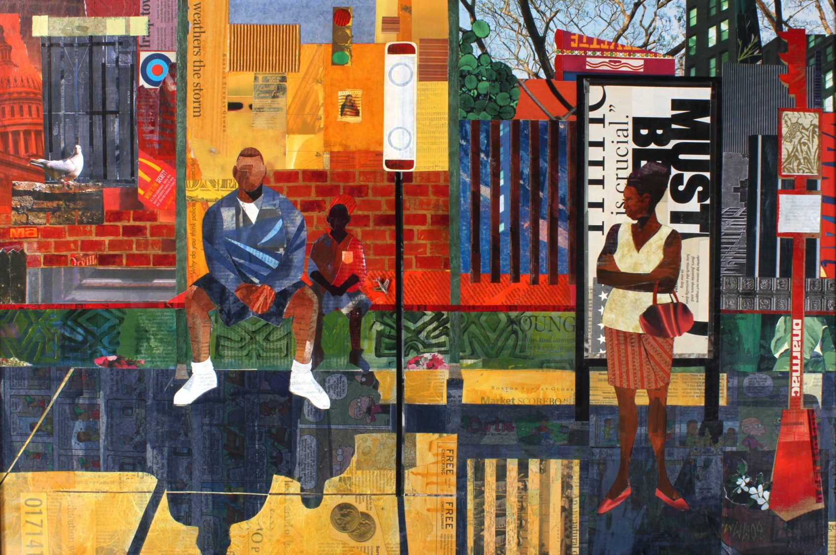 """Bus Stop"" by Ekua Holmes. (Courtesy of the artist)"