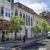 The Huntington Theatre Company neighborhood in Boston. (Jesse Costa/WBUR)
