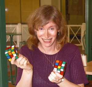 When Jessics Fridrich posted the system she'd developed for solving the Rubik's Cube online, cube-solving began to make a comeback (Courtesy Jessica Fridrich)