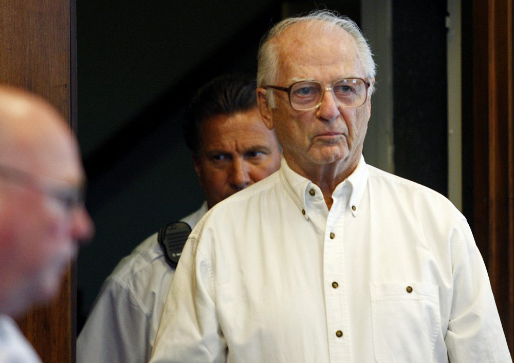 Defrocked priest Paul Shanley appears in Suffolk County Superior Court in 2008 to seek a new trial. That request was rejected. Shanley is set to be released from prison as early as this week. (Yoon S. Byun/AP)