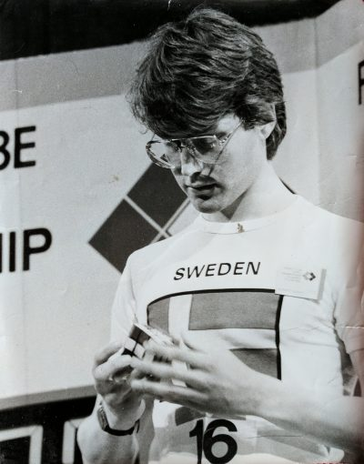 Lars Petrus represented Sweden at the very first Rubik's Cube world championship in 1982. He took fourth place. (Courtesy Lars Petrus)
