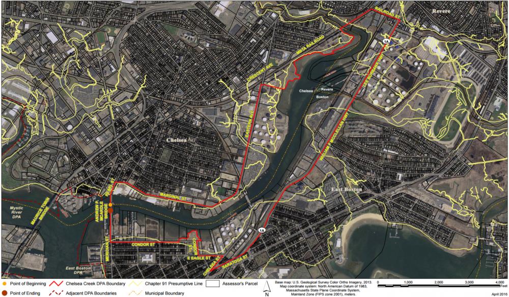 Chelsea Creek is a designated port area. (Courtesy of Massachusetts Office of Coastal Zone Management)