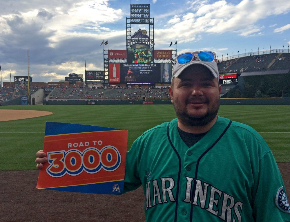 Ben Wells, pictured above, had a lot invested in his quest to witness Ichiro Suzuki's 3,000-career-hit milestone. (Courtesy Ben Wells)