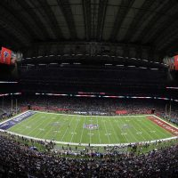NRG Stadium is seen during the NFL Super Bowl 51 football game between the New England Patriots and the Atlanta Falcons Sunday, Feb. 5, 2017, in Houston. (Charlie Riedel/AP)