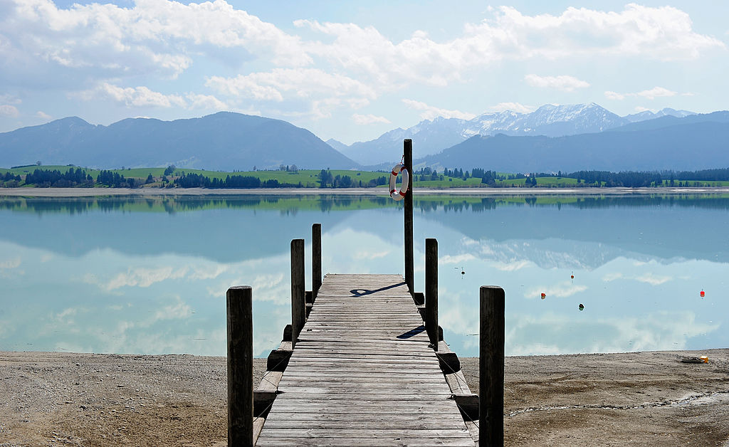 A closed jetty is seen at lake Forggensee on April 25, 2013 near Fuessen, Germany. (Lennart Preiss/Getty Images)