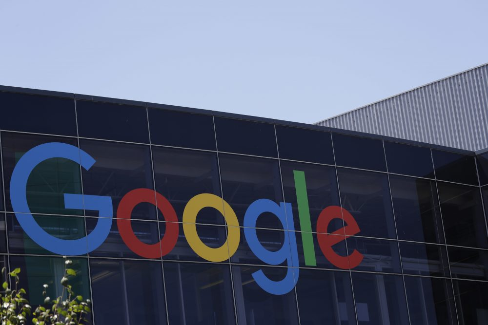 The Google logo at the company's headquarters in Mountain View, Calif. (Marcio Jose Sanchez/AP)