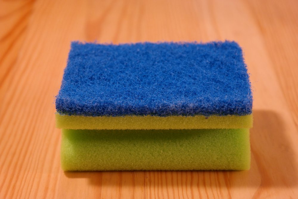 Kitchen sponges are teeming with microbes, and microwaving them or washing them in hot water doesn't work to kill those germs, according to a new study. (Hans/Pixabay)