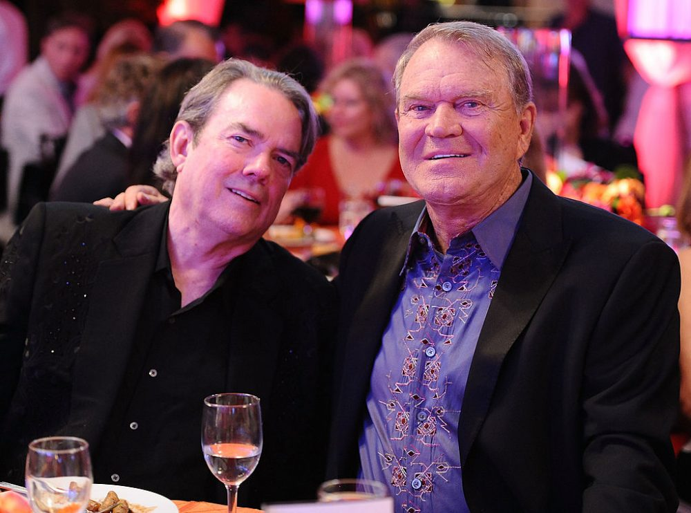Jimmy Webb (left) and Glen Campbell attend Jane Seymour's second annual Open Hearts Foundation Celebration held at a private residency on April 21, 2012 in Malibu, Calif. (Angela Weiss/Getty Images For The Open Hearts Foundation)