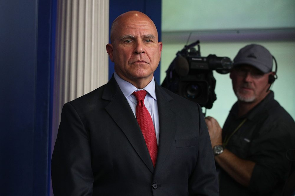 National security adviser H.R. McMaster listens during a daily briefing at the White House on July 31, 2017, in Washington, D.C. (Alex Wong/Getty Images)