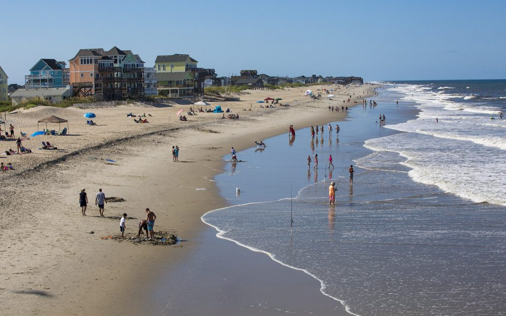 A view of Rodanthe Beach on North Carolina's Outer Banks. (Jesse Costa/WBUR)