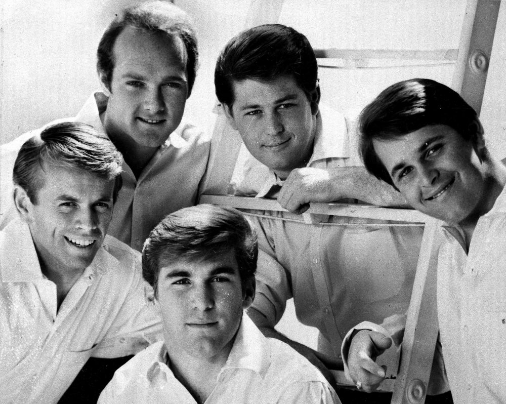 "The Beach Boys in 1966 file photo. From left: Al Jardine, Mike Love, Dennis Wilson, Brian Wilson and Carl Wilson. Classics such as the Beach Boy's ""Good Vibrations"" and ""Summer Nights"" from Grease are among the best-loved songs of the summer. (AP)"