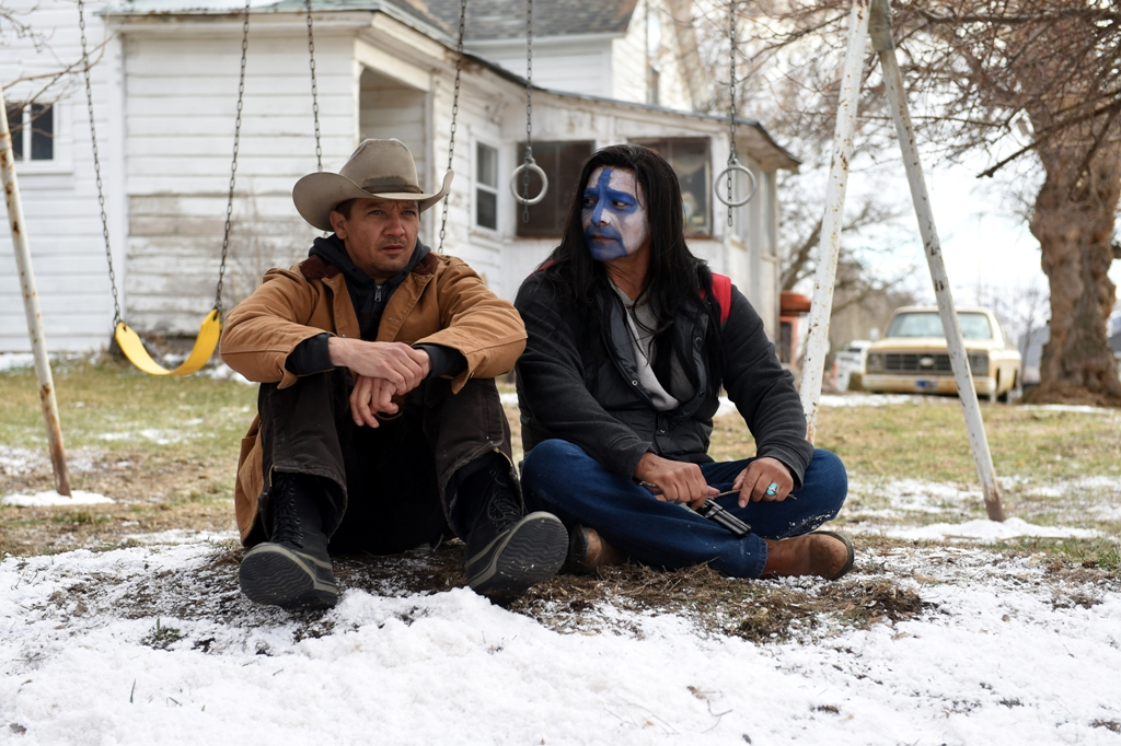 """Jeremy Renner and Gil Birmingham in """"Wind River."""" (Courtesy Fred Hayes/The Weinstein Company)"""