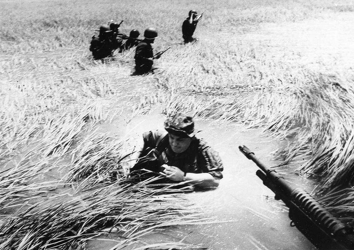 Photojournalist Horst Faas in the Mekong Delta. (Courtesy Tom Herman)