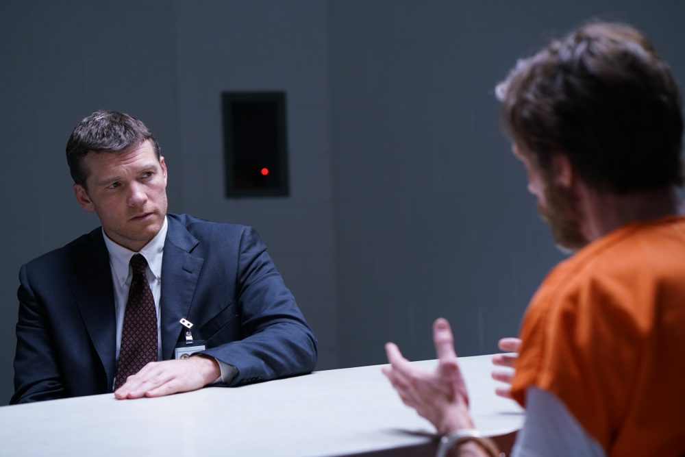 "Sam Worthington as Jim Fitzgerald and Paul Bettany as Ted Kaczynski in an image from the Discovery Channel series ""Manhunt: Unabomber."" (Courtesy Discovery Channel)"