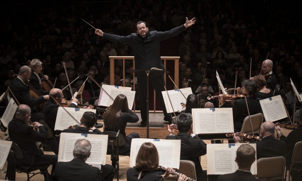 Andris Nelsons conducts the Boston Symphony Orchestra. (Courtesy Marco Borggreve/BSO)