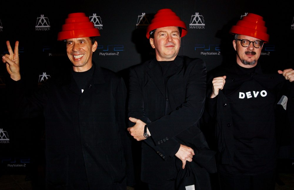 How did a mutated, morphed image of golfer Chi Chi Rodriguez end up on the cover of a Devo album? (Jon Kopaloff/Getty Images)