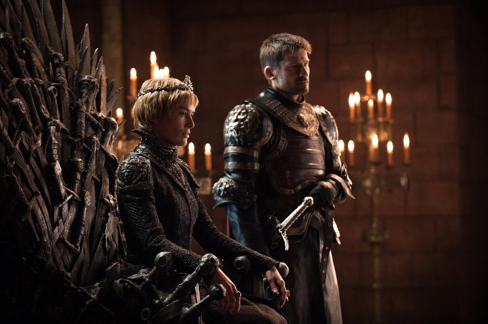"Lena Headey and Nikolaj Coster-Waldau, in an image from season seven of ""Game of Thrones."" (Helen Sloan/Courtesy of HBO)"