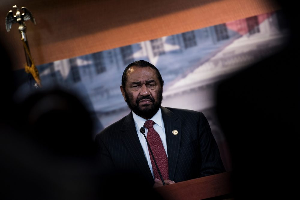 U.S. Rep. Al Green (D-Texas) speaks about articles of impeachment for U.S. President Donald Trump during a press conference on Capitol Hill June 7, 2017 in Washington. (Brendan Smialowski/AFP/Getty Images)