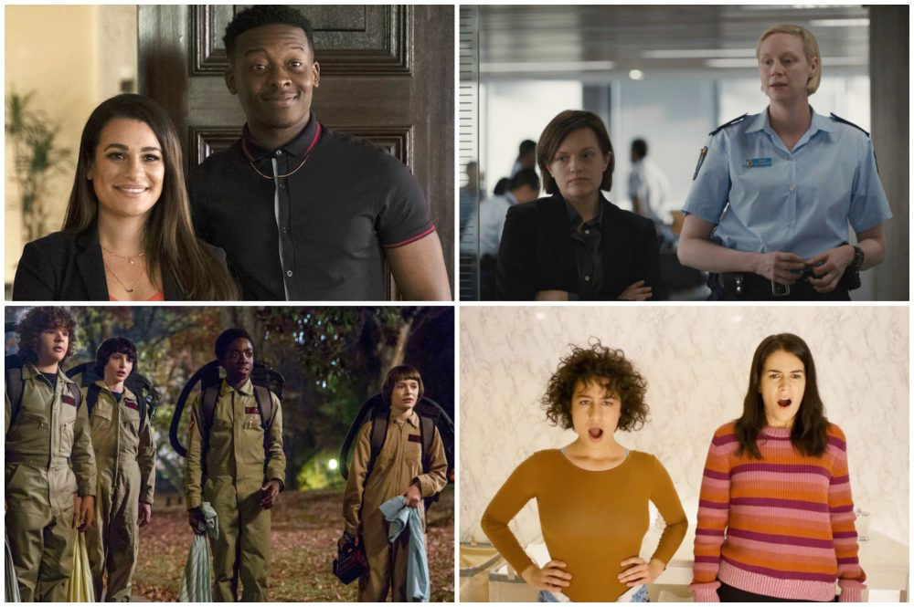"Scenes from the upcoming seasons of ""The Mayor,"" ""Top of the Lake,"" ""Stranger Things"" and ""Broad City."" (Courtesy)"