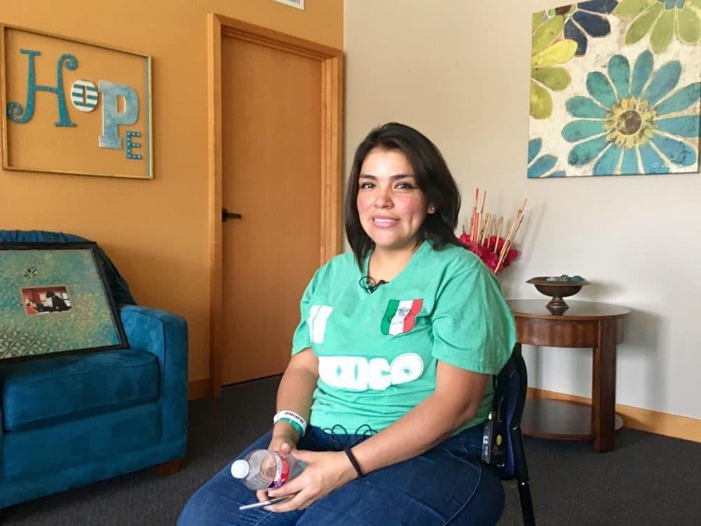 Nereyda Rangel's newborn baby girl was one of 10 babies flown from Corpus Christi to Fort Worth's Cook Children's Medical Center. (Stella Chávez/KERA)