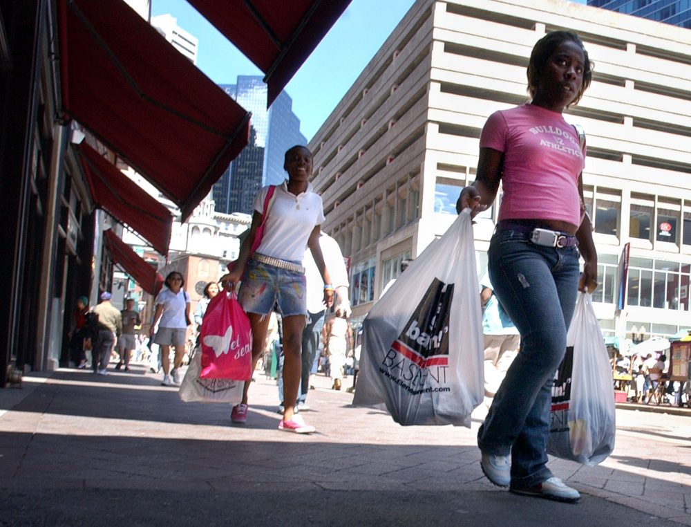 Shoppers make their way through Downtown Crossing in this photo from 2006. (Lisa Poole/AP)