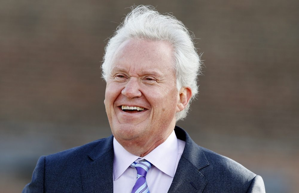 Former General Electric CEO Jeff Immelt attends a ground-breaking ceremony for GE's new headquarters, Monday, May 8, 2017, in Boston. (AP Photo/Michael Dwyer)
