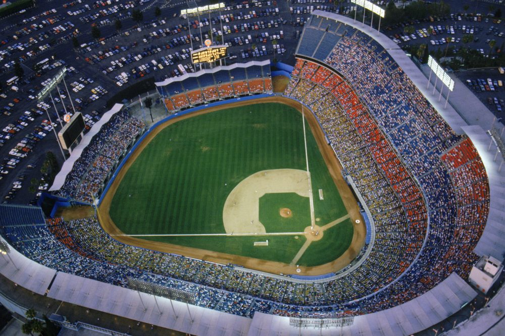 The Dodgers are packing the fans in, in part because of a TV blackout. (Getty Images)