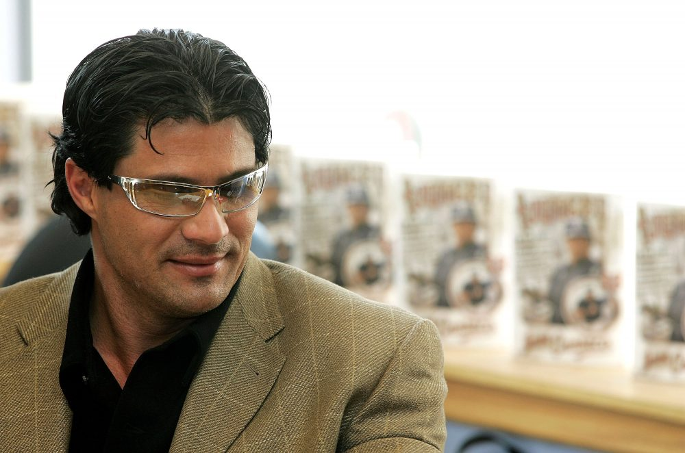 """""""What I speak out of my mouth is the truth. It burns like fire,"""" Jose Canseco said. (Tim Boyle/Getty Images)"""