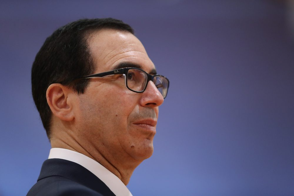 Treasury Secretary Steven Mnuchin attending the second day of the G20 economic summit on July 8, 2017 in Hamburg, Germany. (Sean Gallup/Getty Images)