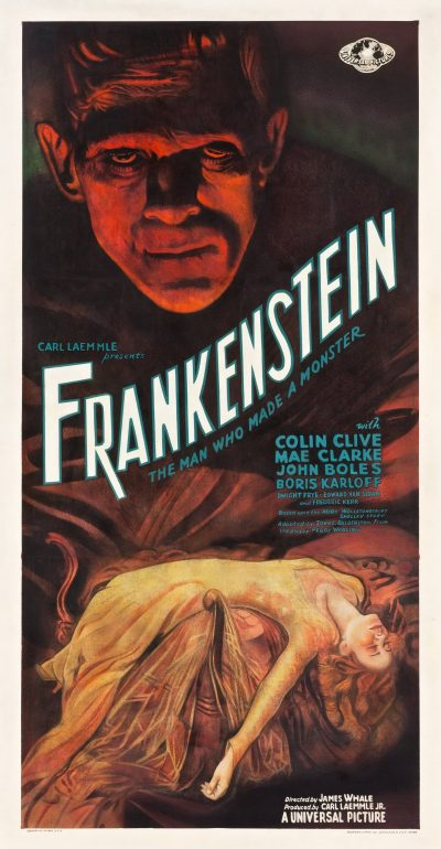 "A poster for the 1931 Universal Pictures film ""Frankenstein."" (Courtesy Collection of Kirk Hammett/Universal Pictures Licensing)"