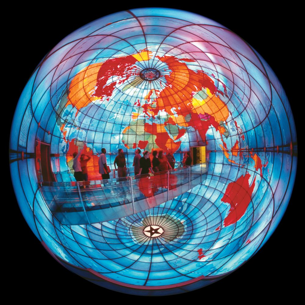 The Mapparium at the Mary Baker Eddy Library. (Courtesy The Mary Baker Eddy Library)