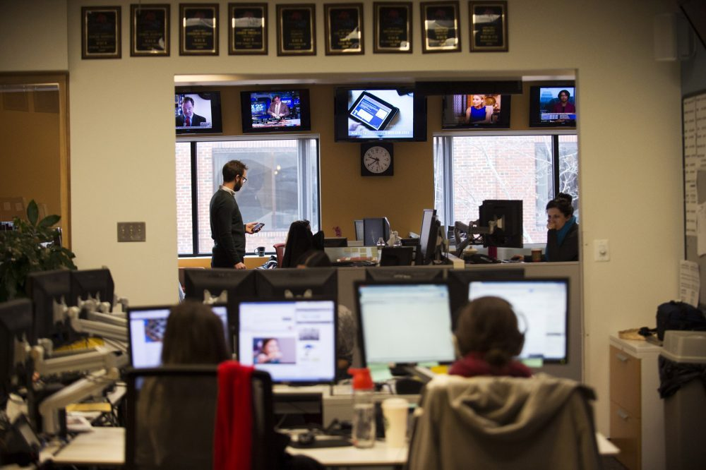 WBUR's newsroom.