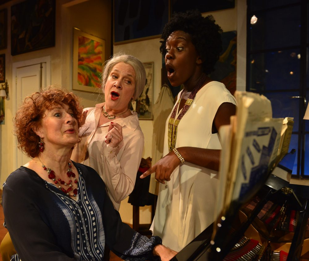 "Left to right, Paula Plum, Debra Wise and Obehi Janice in ""Out of the Mouths of Babes."" (Courtesy Gary Ng)"