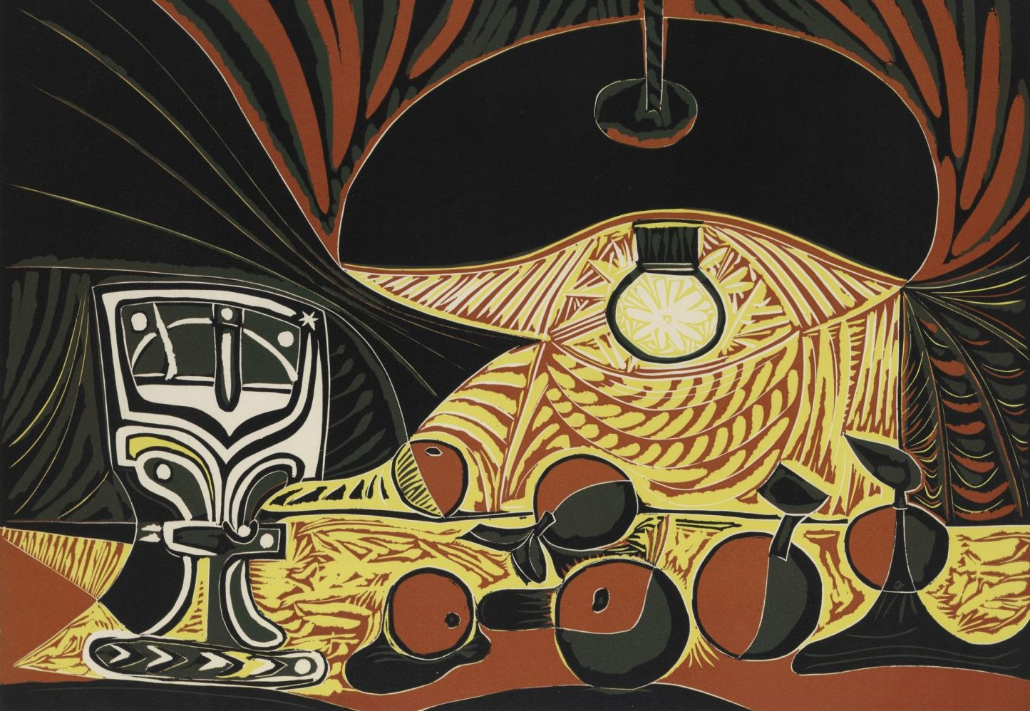 """Picasso's 1962 """"Still Life with Glass Under the Lamp."""" (Courtesy Estate of Pablo Picasso/Artists Rights Society, New York)"""