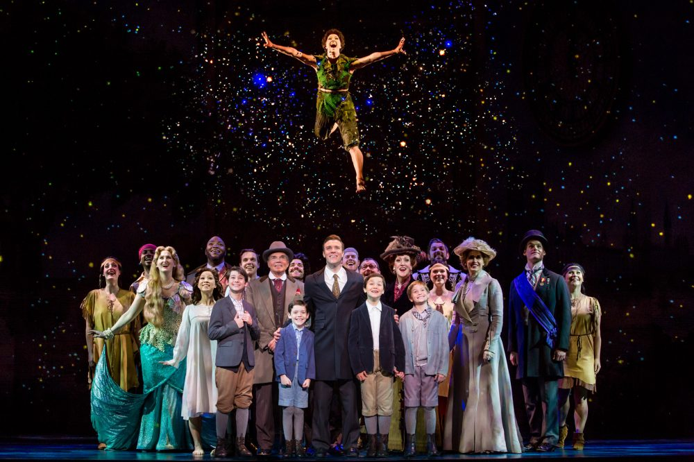 """The touring cast of """"Finding Neverland."""" (Courtesy Jeremy Daniel)"""