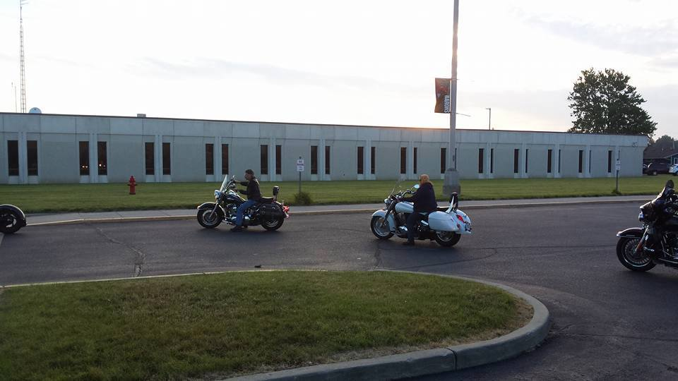 Bikers on their way to DeKalb Middle School (Courtesy of Brent Warfield)