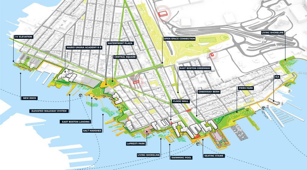 Kleinfelder-Stoss draft design as part of the Boston's Climate Ready East Boston project (Courtesy Kleinfelder-Stoss)