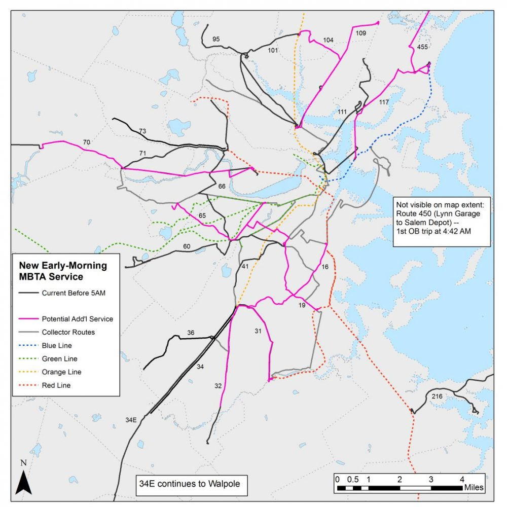 boston mbta bus map Mbta To Increase Early Morning Bus Service On 10 Routes Wbur News boston mbta bus map