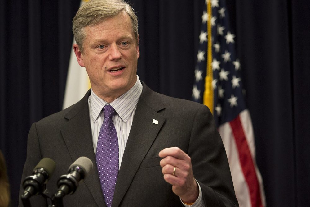 Gov. Charlie Baker has announced he will revive a hate crime task force originally established in the 1990s. (Jesse Costa/WBUR File Photo)