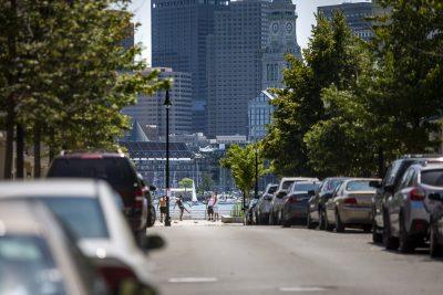 Border Street in East Boston. (Jesse Costa/WBUR)